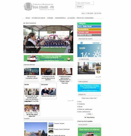 Script Pronto para Prefeituras e Câmaras Municipais - Wordpress